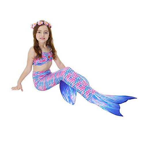 Lml Mermaid Tail for Swimming for Kids ,Mermaid Tails Swimmable Costume Swimsuit for Girls, Kids Swimming,Mermaid Tail Swims for Swimming with Monofin - Girls, Boys, Kids & Adults for 3-12Y -