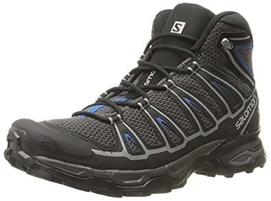 Salomon Men's X Ultra Mid Aero Hiking Boot, Autobahn/Black/Deep Water, 7 D US