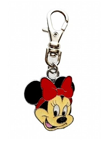 L RED MINNIE MOUSE CHARM PET COLLAR DOG TAG PURSE JACKET BACKPACK FAN ZIPPER PULL KEYCHAIN ()