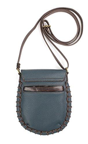 with Crossbody Cell Phone PU Chala Women Purse Strap Adjustable Charming Handbag Leather Navy q5T66wz