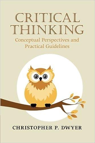 Descargar Libros Gratis Ebook Critical Thinking: Conceptual Perspectives And Practical Guidelines PDF A Mobi
