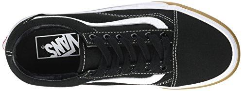 Fourgons Unisexe Vieux Skool Chaussures De Skate Classique Gomme Pare-chocs Noir / Blanc Vrai