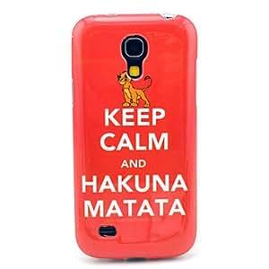 Godlike- Keep Calm and Hakuna Matata Pattern TPU Soft Back Cover Case for Samsung Galaxy S4 Mini I9190