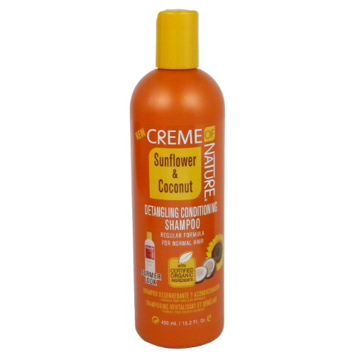 Creme Of Nature Detangling Shampoo - Creme of Nature Sunflower and Coconut Detangling Conditioning Shampoofor Normal Hair, 15.2 Ounce