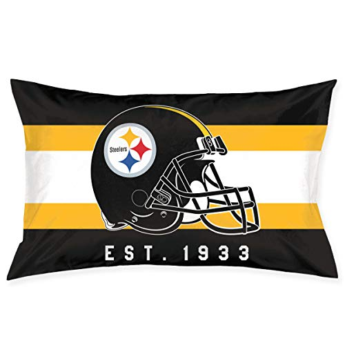 (Marrytiny Custom Rectangular Pillowcase Colorful Pittsburgh Steelers American Football Team Bedding Pillow Covers Pillow Cases for Sofa Bedroom Bedding Car Home Decorative - 18x30 Inches)