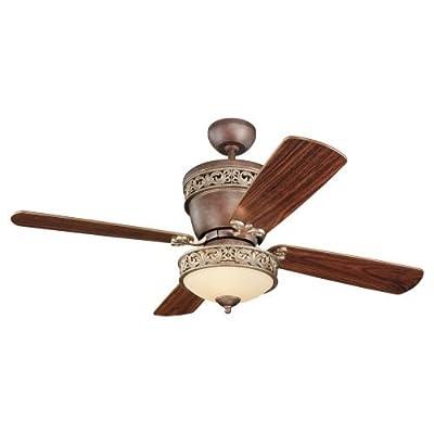 Monte Carlo 48-Inch / 28-Inch Villager Ceiling Fan, American Walnut Blades