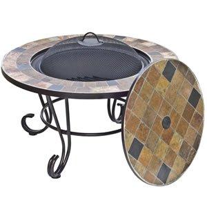 Oxford Barbecues Sorrento - Brasero y mesa (pizarra), diseño de ...