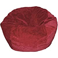 Ahh! Products Microsuede Dark Red Kid Bean Bag Chair
