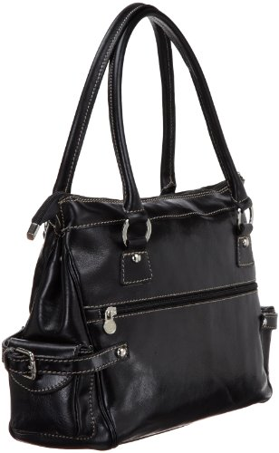Black Monticello One Handbag Size Brown Floto Vecchio HUp48q