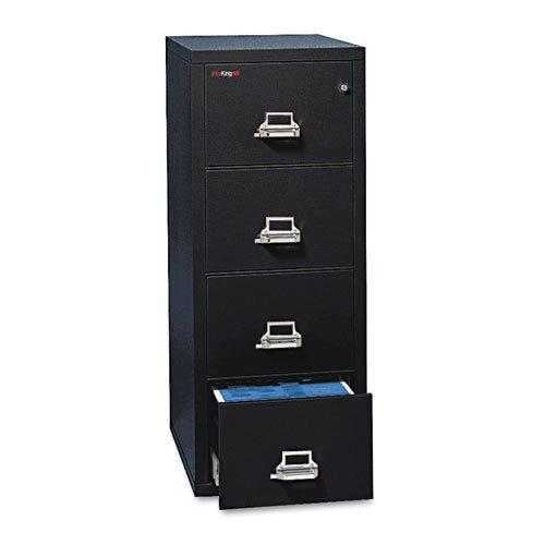 FireKing Fireproof Vertical File Cabinet (4 Letter Sized Drawers, Impact Resistant, Waterproof), 52.25