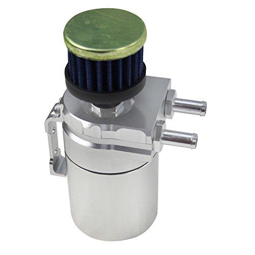 ALLOYWORKS Baffled Billet Aluminum Oil Catch Tank Can Reservoir Tank Universal ( Silver ) by ALLOYWORKS (Image #3)