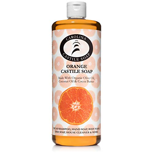 Carolina Castile Soap Orange w/Organic Cocoa Butter | Certified Organic 32 oz