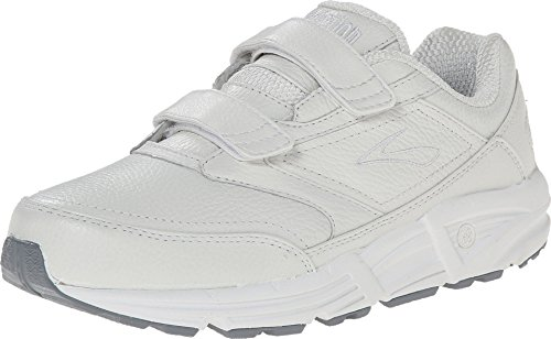 Brooks Women's Addiction Walker V-Strap Walking Shoe,White,8 B (Brooks Athletic Apparel)