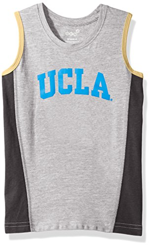 Outerstuff NCAA UCLA Bruins Boys 4-7 Fan Gear Tank Shirt, Large (7), Heather Grey (Ucla Fan Gear)
