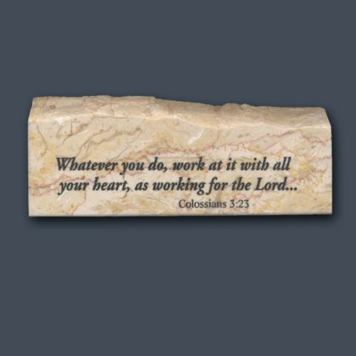 Colossians 3:23 – Inspirational/Scripture Stone Review
