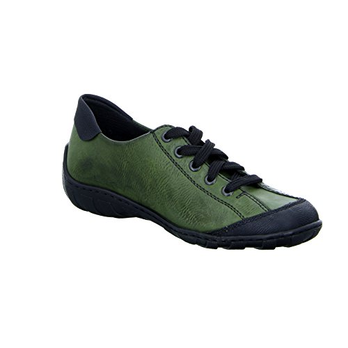 Rieker Vert Basses 00 Rieker Schwarz M3725 M3725 Femme Sneakers Leaf 4YR4rpq