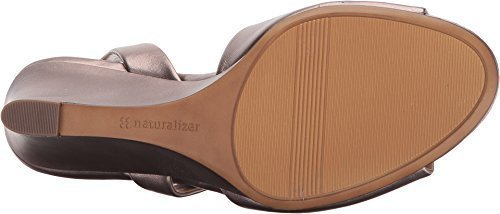 Naturalizer Women's Tonya Wedge Sandal,Bronze Alloy Leather,US 10 M Bronze Leather Wedge