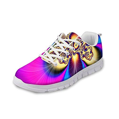 För U Designar Mode Man & Kvinna Andas Blommor Gymnastikskor Löparskor Lila A