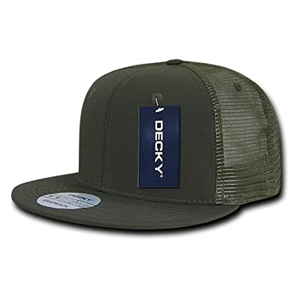 Image Unavailable. Image not available for. Color  DECKY Rip Stop Flat Bill  Trucker Cap 6a3baf78171