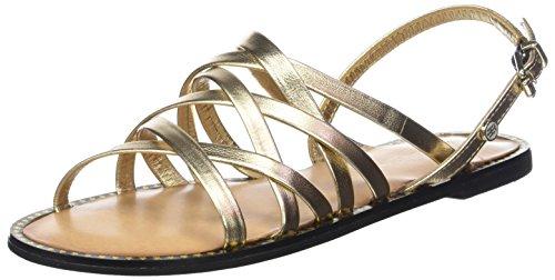 Mekong Pulsera Dorado Flat Sandal Metallic 709 Mujer Hilfiger Strappy con Tommy Sandalia para qPv0Ctx