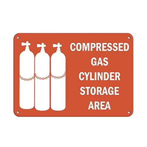 """Compressed Gas Cylinder Storage Area Hazard Sign Flammable Vinyl Sticker Decal 8"""""""