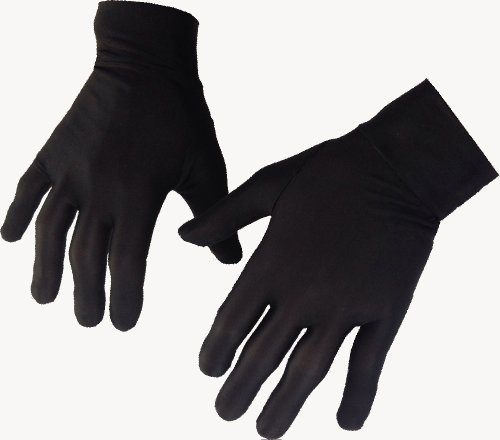 Small 100% Pure Silk Thermal Liner Gloves Inner for Bikers, Skiers, Dog Walkers, Cyclists, Fishermen, Gardeners and all Outdoor Activities. Can also be used with a smart phone.