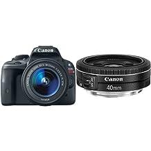 Canon EOS Rebel SL1 Digital SLR with 18-55mm STM Lens and 40mm Lens Bundle