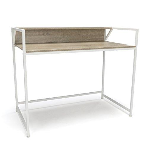 Essentials Office Desk with Shelf – Modern Computer Desk and Workstation, White Natural ESS-1003-WHT-NAT