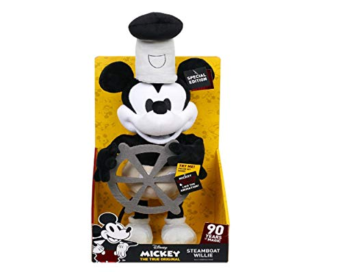 (Disney Steamboat Willie Mickey Mouse Dancing Plush 16 inches - Special Edition 90 Years Magic)