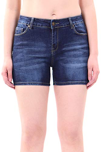 (WuhouPro Super Comfy Stretch Denim Shorts AZ 1201 D.Blue 10 )