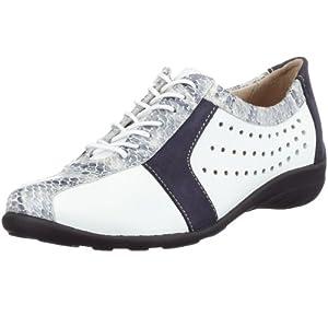 Florett 01.273, Damen Sneaker, weiss, (weiß-blau 702), EU 38