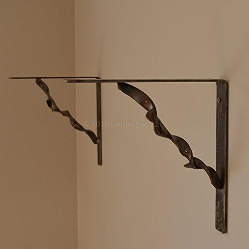 Shelf Bracket Set with Twisted Straight Horseshoes ()