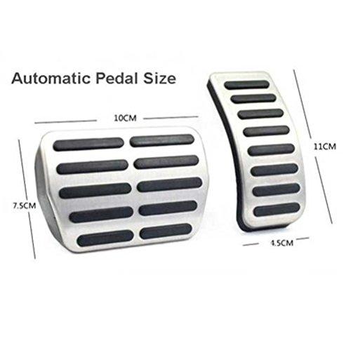 ICT Ronix Acero Inoxidable Juego de pedales Pedales Pedal tapas automático: Amazon.es: Coche y moto
