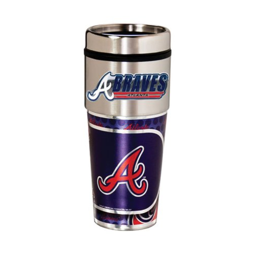 Great American Products Atlanta Braves 16oz. Stainless Steel Travel ()