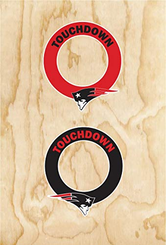 Set of two Patriots Cornhole Hole Ring Decals New England Football