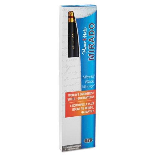 Wholesale CASE of 25 – Paper Mate MiradoブラックW / Warrior鉛筆eraser-black Warrior、鉛筆、消しゴム、NO 2ソフトLead with 12ea / DZ B00BX9SROI