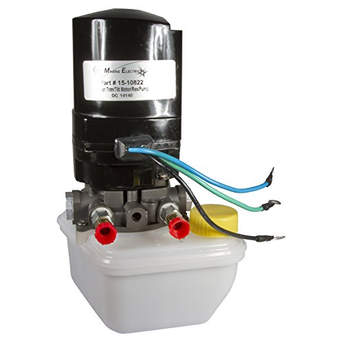 Electric Marine - ELM Products Compatible with Mercruiser Power T/T Motor Reservoir Pump 12V 3 Wire 88183A12 6275 18-6769