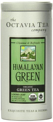 Octavia thé vert de l'Himalaya (biologiques et équitables) Thé en vrac, Boîtes 2,12 Ounce