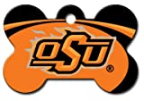 Personalized Laser Engraved 1.5 x 1 inch Oklahoma State Cowboys Bone Shape Pet ID Tag- Free Tag Silencer