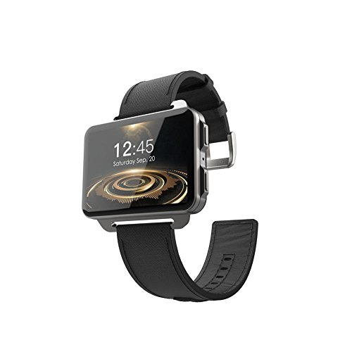 Juan LEMFO Android Smart Watch LEM4, Bluetooth WiFi Smartwatch SIM Card 3G Smart Watch 1GB +16GB Watch 2.2inch Screen 1200 Mah Battery GPS MP4 Phone Support iPhone and Android Phone