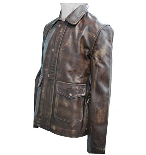Distressed Brown Leather Jones Indiana Jacket Distressed BxHqRIOU