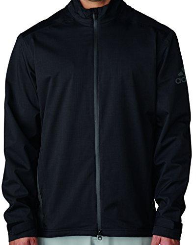 adidas Golf Men's Climaproof Heather Stretch Full Zip Jacket, All All Black, Medium