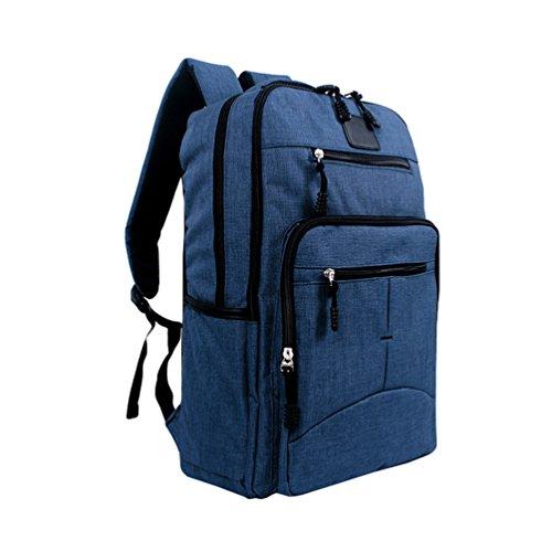 ZKOO Mochila de los Estudiantes Mujeres Hombres Mochila de Viaje Mochilas de Portátil de Lona Backpack Daypacks al Aire Libre Ocio al Aire Libre Zafiro