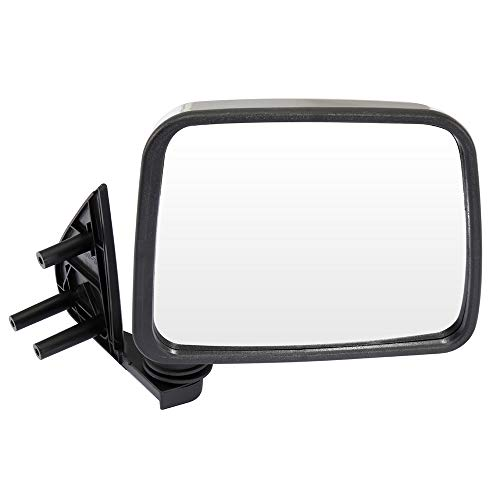 AUTOMUTO Black Rear-vision Mirror Left and Right Side View Mirror Manual adjustment Manual Folding Chrome Fit Compatible With 1986-1997 Nissan Pickup 1986-1994 Nissan D21 1987-1995 Nissan Pathfinder