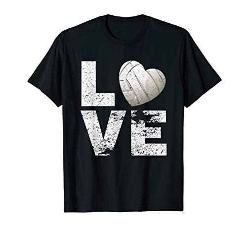 I Love Volleyball T-shirt Moms Dads Kids Volleyball Gift Tee -