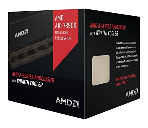 AMD A10 7890K A-Series APU with Radeon R7 Graphics & Wraith Cooler 4.1 4 AD789KXDJCHBX by AMD