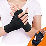 Copper Arthritis Compression Arthritis Gloves,88% Copper Content Comfortable Gloves for Pain Relief of RSI, Rheumatoid Arthritis Carpal Tunnel,Great for Joints When Sports, Housework,Computer Typing