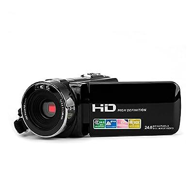 Putars Video Camcorders,Portable Digital Video Camera FHD 1080P Max 24.0 MP 3.0 Inches TFT LCD Screen 16X Zoom Camera Recorder(Black)