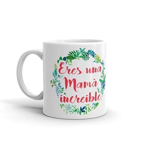Kembilove Tazas Desayuno para Regalar el día de la Madre – Taza Desayuno con Frase Eres una Mamá increíble – Taza de Café para Mamá Personalizada – Regalos Originales para Cumpleaños: Amazon.es: Handmade