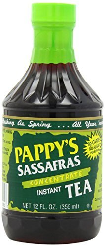 Pappy's Sassafras Concentrate Instant Tea, 12-Ounce Bottles (Pack of 6) by Pappys